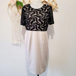 LIZ JORDAN Dress (s12) Evening Wedding Black